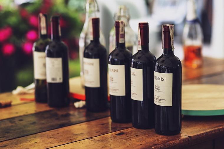 Placement dans le vin